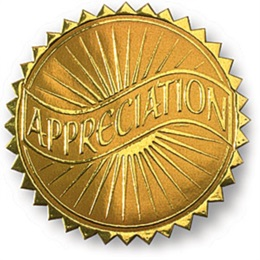 Appreciation Embossed Gold Foil Certificate Seals