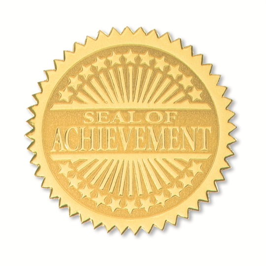 Embossed Gold Certificate Seals