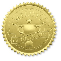 Employee of the Month Trophy Certificate Seals