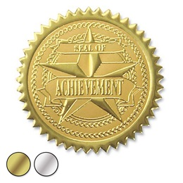 Achievement Embossed Foil Certificate Seals