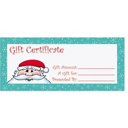 Kris Kringle Fill-In-The-Blank Gift Certificates