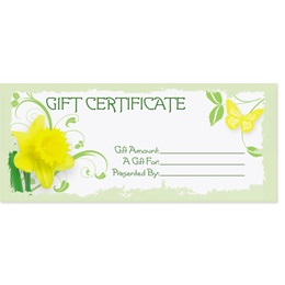Daffodil Delight Fill-In-The-Blank Gift Certificates