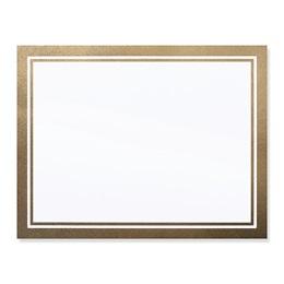 Gold Linen Border Specialty Luxury Certificate