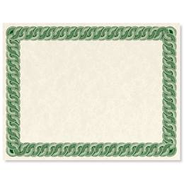 Green Braided Standard Certificates