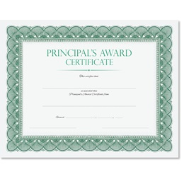 Principal's Award Certificate