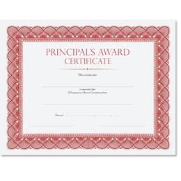 Traditional Principal's Award Certificates