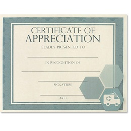 Certificate of Appreciation - Essential Emergency