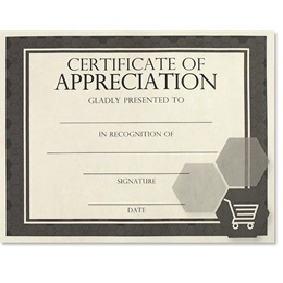 Certificate of Appreciation - Essential Retail