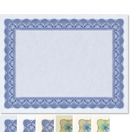 Traditional Blue Standard Certificates