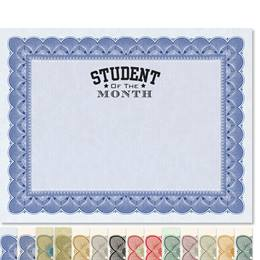 Student of the Month Traditional Certificates