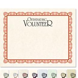 Outstanding Volunteer Impressions Certificates