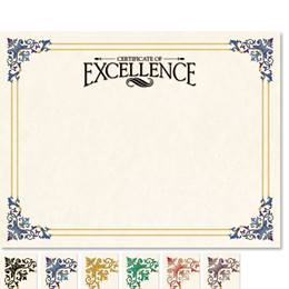 Certificate of Excellence Renaissance Certificates