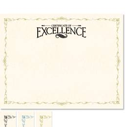 Certificate of Excellence Delicate Certificates