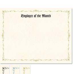 Employee of the Month Delicate Certificates