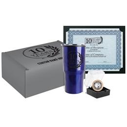 10-Year Service Recognition Gift Set wit Custom Box