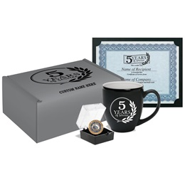 5-Year Service Recognition Gift Set with Custom Box
