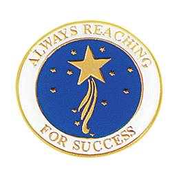 Always Reaching For Success Lapel Pins