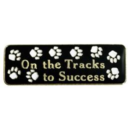 On The Tracks To Success Lapel Pins