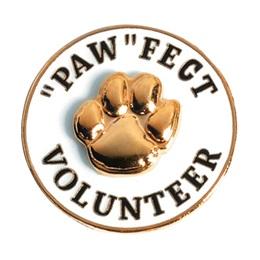"""Paw""fect Volunteer Lapel Pins"