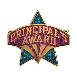 Blue Glitter Star Principal's Award Lapel Pins