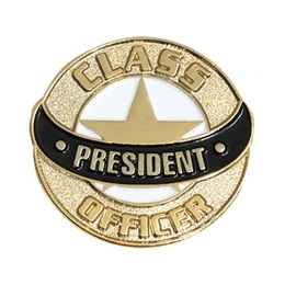 Class President Lapel Pins