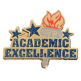Academic Excellence Torch Lapel Pins