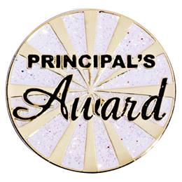 Gold Burst Principal's Award Lapel Pins