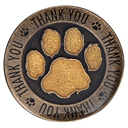 Thank You Paw Award Lapel Pins