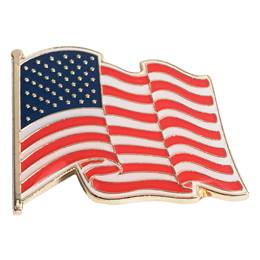 Waving USA Flag Pin