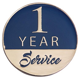 1 Year Service Lapel Pins