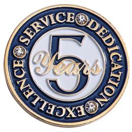 Executive 5 Year Service Lapel Pins