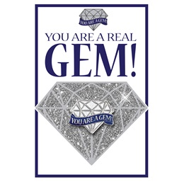 You Are A Real Gem Pin Cards with Pins, 24/pkg