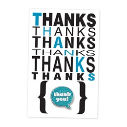 Many Thanks Pin Cards with Pins, 24/pkg