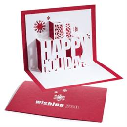 Happy Holidays Pop-Up Gift Card Holder