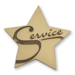 Service Brass Pin