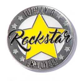 Rockstar Employee Pin