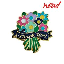 Appreciation Award Pin - Thank You Flowers