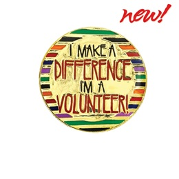 Volunteer Award Pin - I Make A Difference