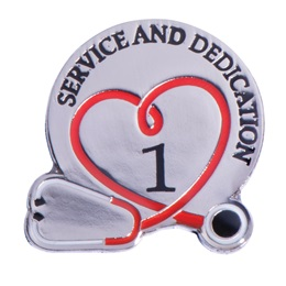 Stethoscope Service & Dedication 1 Year Pin