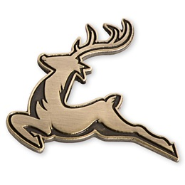 Leaping Reindeer Holiday Lapel Pin
