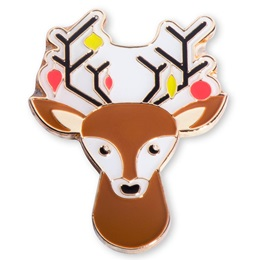 Reindeer Holiday Lapel Pin