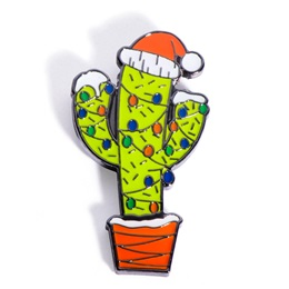 Christmas Cactus Holiday Lapel Pin