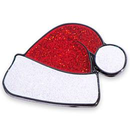 Santa Hat Glitter Holiday Lapel Pin