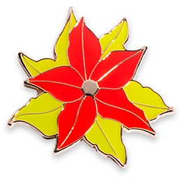 Poinsettia Holiday Lapel Pin
