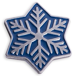 Snowflake Holiday Lapel Pin