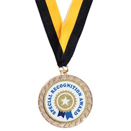Gold Laurel Medallion with Special Recognition Sticker