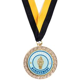Gold Laurel Medallion with Outstanding Achievement Sticker