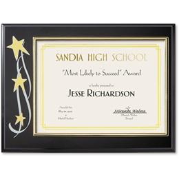 Stars Certificate Plaque