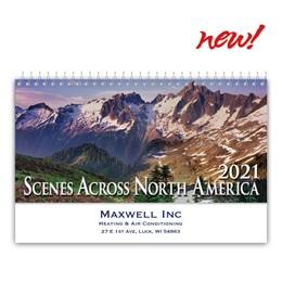 Scenic America Desk Calendar