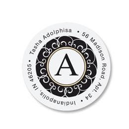 Decorative Round Address Labels